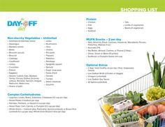 Use this list to shop for meals and snacks and tune in Monday, January 4 for all you need to know about the new the Day-Off Diet!