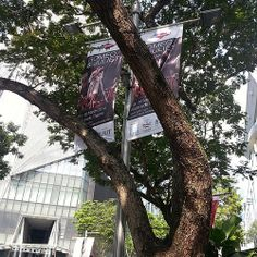 Romeo and Juliet banner on Orchard Rd.
