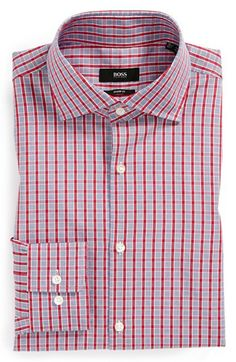 BOSS HUGO BOSS 'Miles' Sharp Fit Dress Shirt available at #Nordstrom