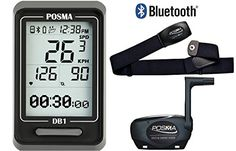 POSMA DB1 BLE40 Cycling Computer Bundle with BHR20 Heart Rate Monitor and BCB20 SpeedCadence Sensor * See this great product.