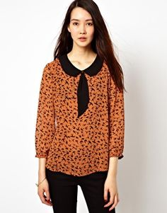 See U Soon Bird Print Blouse