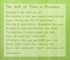 This week is Volunteer Appreciation Week. Here's a short poem in honor of our wonderful volunteers!