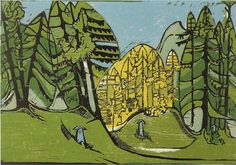 Ernst Ludwig Kirchner, Forest Cemetary, 1933