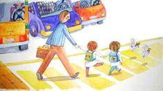 Analia Testone Ilustraciones: Para soñar con angelitos Descripción: Niños yendo al colegio.