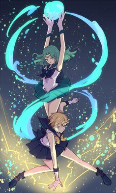Sailor Neptune and Sailor Uranus