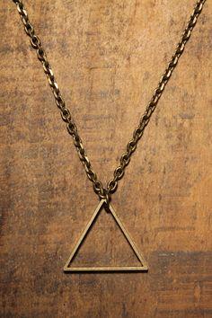 Love Comma Smith Triangle Necklace