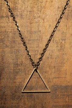 Love Comma Smith Triangle Necklace - If I don't get a Delta tattoo, I may have to get this instead...