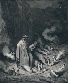 Posterazzi Engraving By Gustave Dore French Artist And Illustrator For Inferno By Dante Alighieri Canto Xix Lines 10 And 11 Canvas Art - Ken Welsh Design Pics x Gustave Dore, Dante Alighieri, Norman Rockwell, Rockwell Kent, Gravure Photo, Inferno Dan Brown, Gravure Illustration, Arte Obscura, Arte Horror
