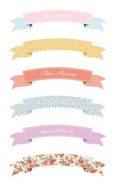 FREE Printable Cupcake Toppers Banderoles Blog