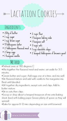 lactation cookies, relactation, recipe, increase, breastmilk, suppy