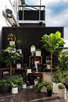 Avec quel mobilier aménager votre balcon ou votre terrasse With which furniture to arrange your balcony or your terrace? Small Balcony Garden, Small Balcony Decor, Balcony Plants, Balcony Design, Raised Garden Beds, Garden Design, Balcony Gardening, Backyard Plants, Big Garden