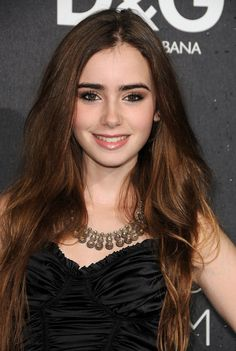 Lily Collins - love her eye makeup
