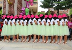 Love the skirts, shoes and all the shades of brown!!  Welcome to the sisterhood, my sorors!!  University of Tenn. Chattanooga Spring 2015