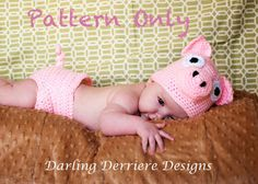 Pig Hat and Diaper Cover Crochet Pattern. $5.49, via Etsy.  Her daddy would LOVE this!