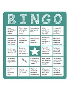 Teachers & counselors: Use this BINGO board to promote good self-esteem and generate positive self talk. This can be used with individuals, groups or even class-wide. Bingo For Kids, Gym Games For Kids, Toddler Party Games, Family Game Night, Family Games, Funny Wedding Games, Bingo Card Generator, I Love School, School Days