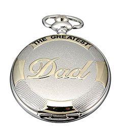 8d5ecfab0 Carrie Hughes Men's Black Golden Silver Golden DAD Grandpa Quartz Pocket  Watch with Chain Review Quartz