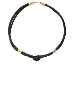 Image 1 of Isabel Marant Cravanes Necklace in Black & Gold