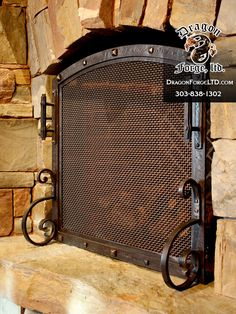 Great Great Northern Lodge Free Standing Fireplace Screen