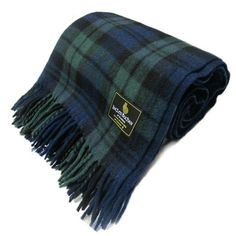 Ingles Buchan Scottish Black Watch Wool Tartan Blanket/Throw 69 x 62 Inches  | eBay