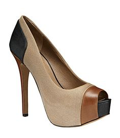 Jessica Simpson Pleasance Peep-Toe Pumps
