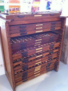 Urban Renewal Vintage One-Of-A-Kind Vintage Watchmaker Cabinet ...