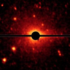 Spitzer Spies a Comet Coma and Tail #wow