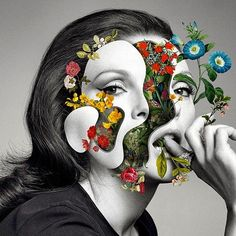Marcelo-Monreal-3   Marcelo Monreal's Surreal Collages Replace Our Insides With Beautiful Blooms
