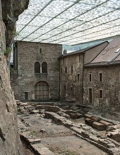 Swiss, A trasparent roof will protects the thousand-year old abbey St. Maurice