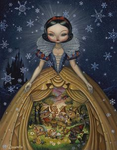 SOMEDAY will be showing for the first time at Long Beach Comic Con in September… Snow White Art, Snow White Queen, Disney Fan Art, Disney Love, Disney Pixar, Illustrations, Illustration Art, Fairytale Art, Emo Scene