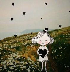Annelinde Tempelman / Met zwarte hartjes in de weide