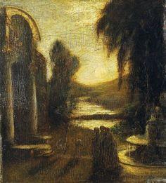 """Art Gallery, Albert Pinkham Ryder, Albert Ryder, 1885 Ryder, Mind 1885. """""""