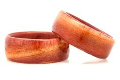 """Red cedar is what most people know of as """"cedar"""". From hope chests to bird houses and fence posts this wood is spotted almost as easily by appearance as it is by aroma. Starting off as a vibrant light red color this wood will eventually patina to a rich dark red. Since our rings are fully sealed they will not have the classic scent of cedar, but will last far longer!"""