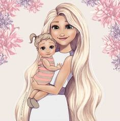 4 Adorable Drawings Of Disney Princesses As New Moms