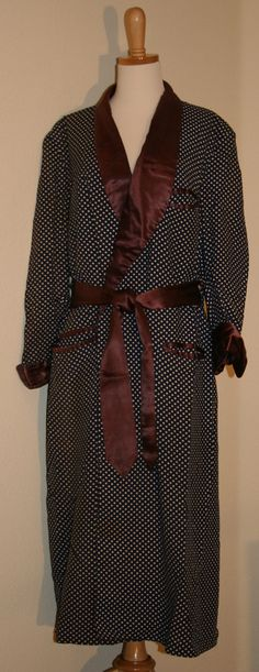 1950's- 60's Men's Smoking Jacket/Robe    Vintage Duds and Decor