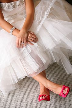 I wanna see what some of the brides who wore fuschia shoes look like in there wedding dresses! Pretty please post! Pink Wedding Shoes, Bridal Shoes, Wedding Dresses, Color Rosa, Pink Color, Fuschia Shoes, Wedding Planning Websites, Pretty In Pink, Wedding Ideas