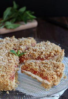 Torta fredda alla ricotta e marmellata di fragole senza cottura ricetta Dulcisss in forno by Leyla