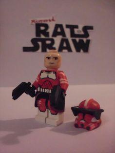 Lego Star Wars minifigures - Clone Custom Commander Fox