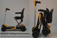 have a look at our new RAZZLE folding travel scooter! Just throw it in the boot and go! It 's a 'boot-scoot'!Very latest technology and convenient, foldable...