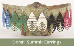 Denali Summit Beaded Earrings Patterns, Seed Bead Patterns, Beading Patterns, Bracelet Patterns, Beaded Bracelets, Free Beading Tutorials, Stretch Bracelets, Stitch Patterns, Seed Bead Jewelry