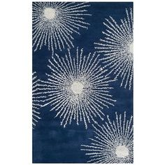 Safavieh Soho x Rectangle Wool Hand Tufted Contemporary Area Rug Dark Blue / Ivory Home Decor Rugs Area Rugs Purple Area Rugs, Blue Area, Beige Area Rugs, Blue Ivory, Dark Blue, Light Blue, Contemporary Rugs, Contemporary Classic, Accent Rugs