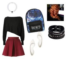 """""""Last day of school"""" by abbybaby-173 ❤ liked on Polyvore featuring beauty, P.A.R.O.S.H., Crea Concept, Charlotte Russe, Disney, Everest and Replay"""