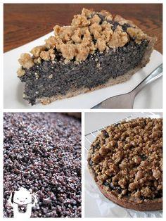 German poppyseed cake (Mohnkuchen). Vegan, gluten-free, yeast-free.  Recipe can be found here: http://vegan-glutenfree-monster.com/?p=1329