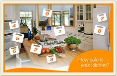 Take the Food Safety Interactive Kitchen Quiz from the Academy of Nutrition & Dietetics