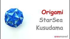 Origami Kusudama Starsea (intermediate- modular) This is what i call a christmas ball! Origami And Kirigami, Origami Folding, Origami Art, Paper Folding, Origami Geometric Shapes, Paper Art, Paper Crafts, Origami Videos, Origami Tutorial