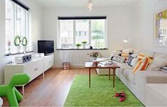 Living Room Small Apartments Decorations by Alvem Makleri LCD TV