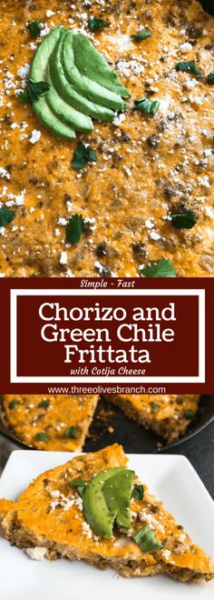 Chorizo and Green Chile Frittata - Three Olives Branch Mexican Breakfast Recipes, Brunch Recipes, Mexican Food Recipes, Ethnic Recipes, Chorizo And Eggs, Chorizo Sausage, Mexican Chorizo, Quick And Easy Breakfast, How To Make Breakfast