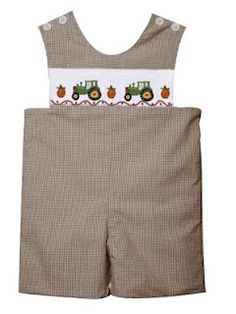 smocked tractors....one for lucky little boys.