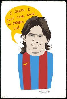 Messi Stripes by Dan Leydon