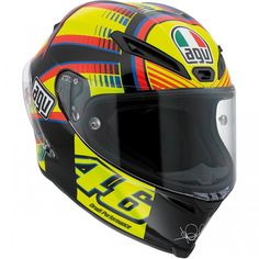 AGV Corsa Soleluna Valentino Rossi Helmet available at Motochanic.com