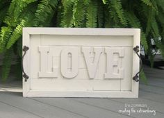 Pottery Barn Knock-Off...{ LOVE wall art plaque } - Simple to do!    Valentines day decor